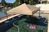 Pabellón/Gazebo (también conocido como un EZ-UP) de flotador para la piscina o lago para baratos