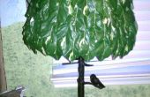 Hacer su propia pantalla de hojas para un árbol de la lámpara