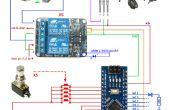 Conmutador de pedal de Arduino 5 programable