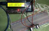 Sensor ultrasónico con pantalla LCD de