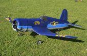 RC modelo Corsair F4U hecho de Depron