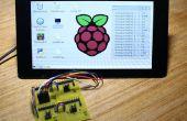 Tabla de conversión A/D digital y pantalla de GUI voltaje análogo frambuesa pi