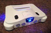 N64 LED 5v potencia fuente y frente emblema retiro