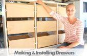 Fabricación de gavetas con caja de empalmes en la Sierra de mesa