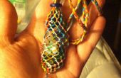 Macrame collar de piedra intercambiables