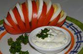 Ventilador de tomate (tomate relleno de huevo)