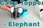 Cómo hacer pasta de azúcar Fondant Topper de la torta de elefante