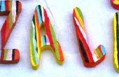 Letras de espuma de poliestireno