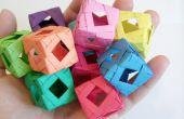 Cubo (Origami Modular) de la ventana de diamante
