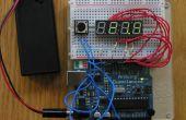 Pantalla de LED de 7 segmentos de 4 dígitos + Arduino