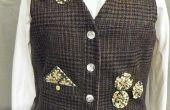 Chaleco de una vieja capa de traje de lana