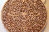 Aztec estaño moneda de Laser grabado al agua fuerte plantilla