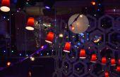 Cadena de luz rojo plástico Copa Fiesta