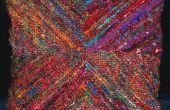 Reciclado de almohada de seda Sari