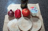 Pizza de Pita de trigo integral