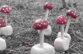 Setas hongos barro mini