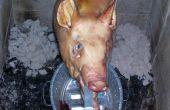 Cerdo asado, asador estilo