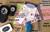 Utilizando trozos de papel para hacer rápida y fácil en relieve tarjetas de