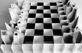Juego de ajedrez de papel pop-up