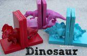 Sujetalibros del dinosaurio con pegamento caliente.