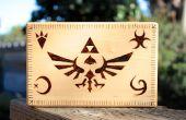 Caja de Legend of Zelda woodburned