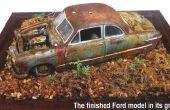 Antiguo 1949 ford modelo oxidados coupe Tudor