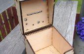 Caja de bobina con bisagras