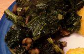 Salteado de col con nueces y Setas Shiitake