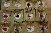 Tarjetas caseras chatarra madera, adornos y decoraciones de la tabla - tres diseños - estarcidos, pintado a mano, collage y decoupage.
