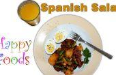 Chorizo español fácil, patatas, huevo, receta de ensalada de frijol