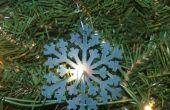 Helado nieve clara escama ornamento