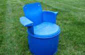 Reciclado silla barril de 55 galones
