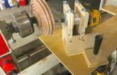 Router estría Jig para torno de madera