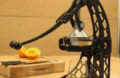 Una prensa de jugo de cítricos con mortaja y espiga empalmes