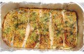 Pesto ajo salmón