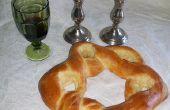 Pan de Challah en forma de estrella de David