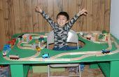 Cómo construir una mesa de tren con el agujero en el centro - acabado en horas