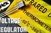 Regulador de voltaje 7805 en Sensor de temperatura de hack