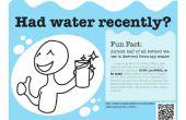 Proyecto de cartel recordatorio del agua