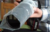 Lluvia-manga de la lente