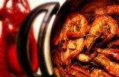 Pote caliente con langostinos Thai-Cajun
