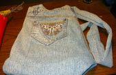 Una (tamaño godzilla no) monedero hecho de un viejo par de Jeans