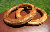 Auténtica gimnasia todavía anillos de madera