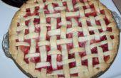 Pastel casero de fresa ruibarbo