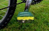 Pedales bicicleta amistoso descalzo