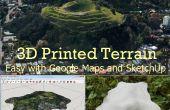 3D impreso terreno de mapas de Google con SketchUp