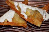 Deep Fried Empanadas con limón Salsa de cal