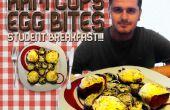 Tazas - huevo mordidas de jamón / / estudiante de desayuno!