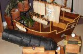 Nave y juego de carnaval aire cañón del pirata