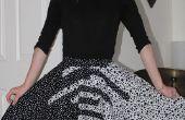 Falda de círculo bicolor